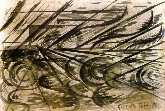 Giacomo Balla | Automobile in corsa