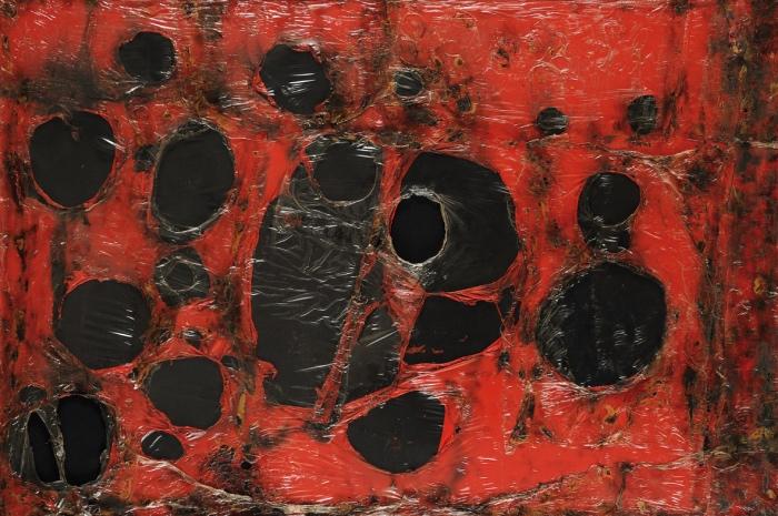 Alberto Burri | Rosso Plastica M3