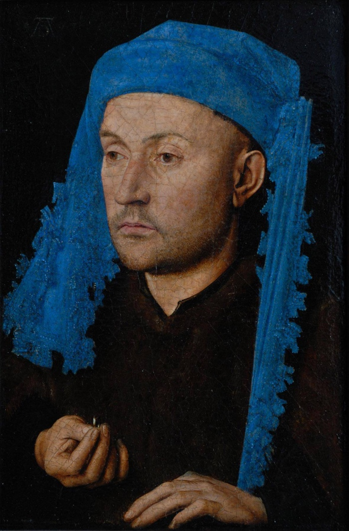 Jan van Eyck | L'uomo dal turbante turchese e anello