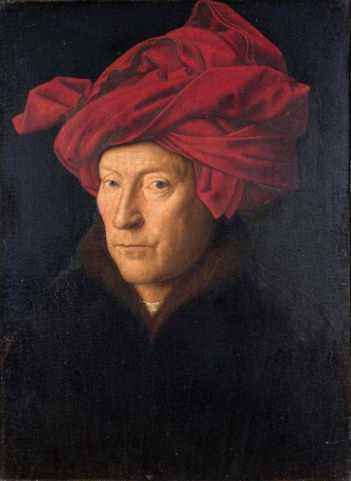 Jan van Eyck | Ritratto di uomo con turbante rosso