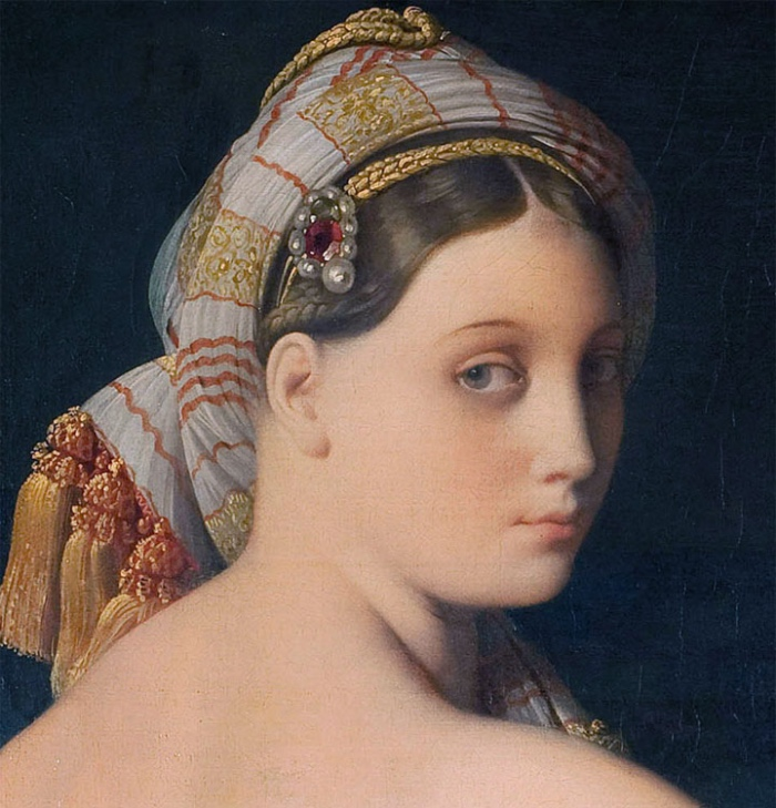 How does jean-auguste-dominique ingres portray the body of the woman in grande odalisque
