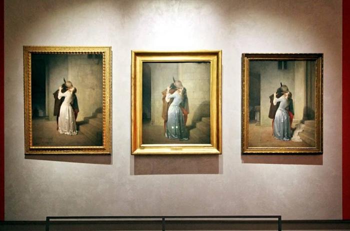 Bacio di Hayez | tre versioni