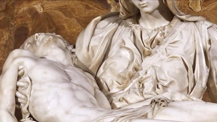 Pietà Michelangelo | firma Michelangelo