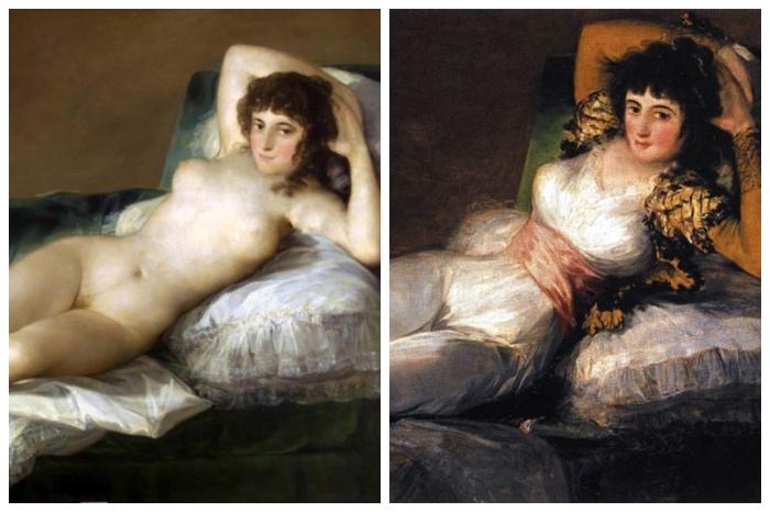 Goya | Maja desnuda | Maja vestida