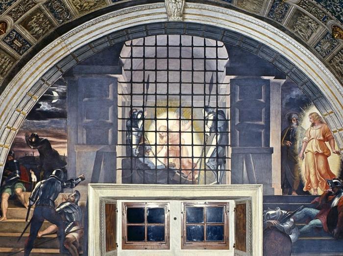 stanze di Raffaello | Liberazione San Pietro