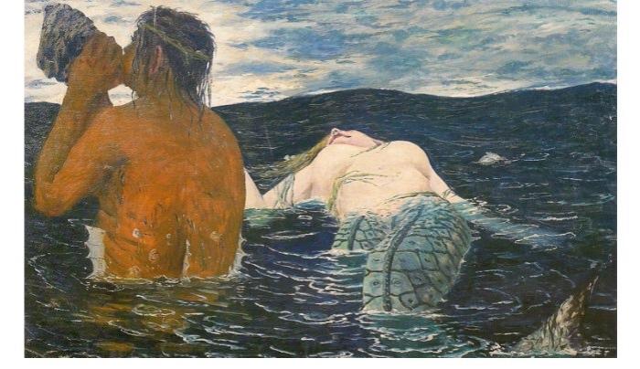 De Chirico | Tritone e Sirena