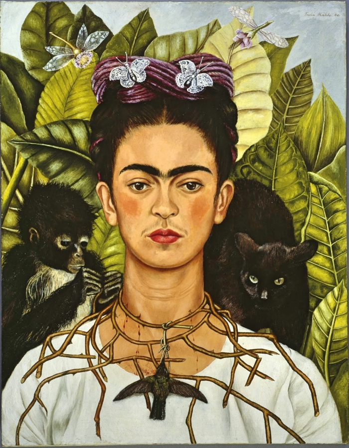 Frida Kahlo | Self-Portrait with Thorn Necklace and Hummingbird