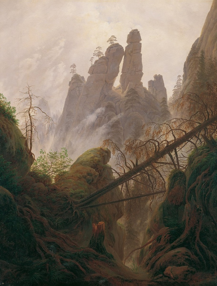 Caspar David Friedrich | Rocky Landscape in the Elbe Sandstone Mountains