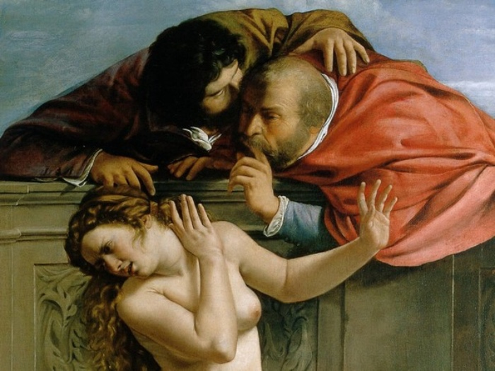 Susanna and the Elders | Artemisia Gentileschi detail