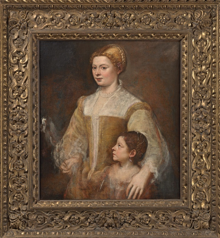 Titian | Portrait of a Lady and her Daughter