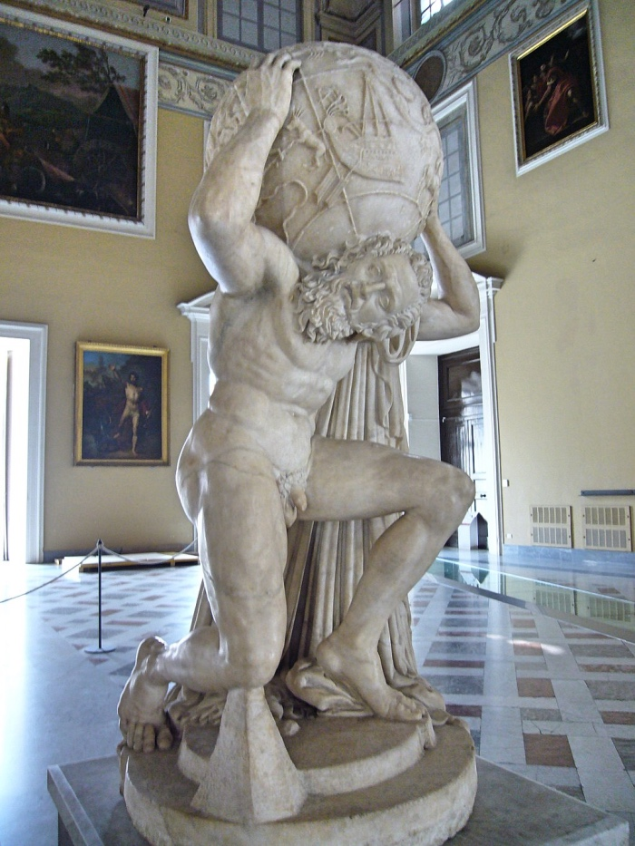 The Farnese Atlas | Works of art in Napoli