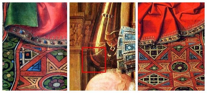 dettagli | Madonna del canonico van der Paele