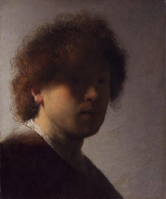 Rembrandt | Autoritratto con capelli scompigliati