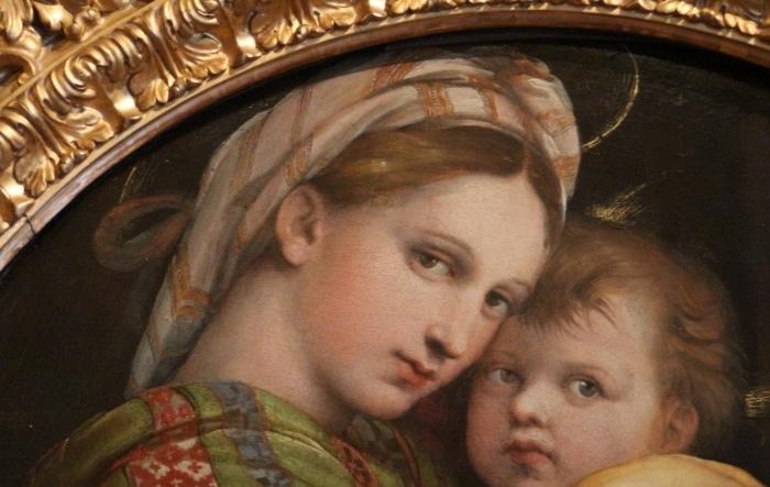 Raffaello | Madonna della Seggiola | dettaglio