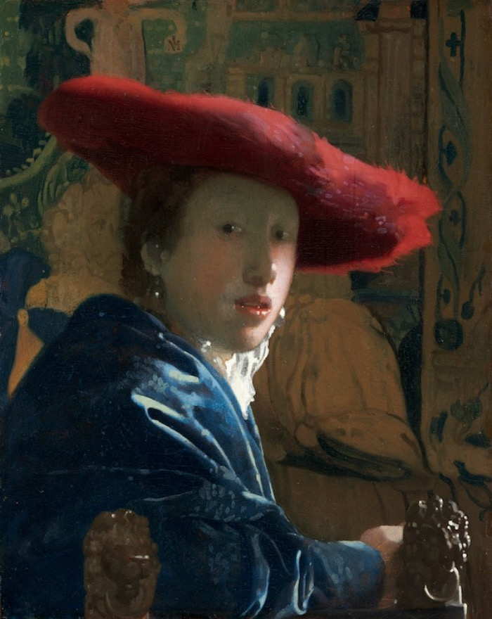 JOHANNES VERMEER | GIRL WITH THE RED HAT