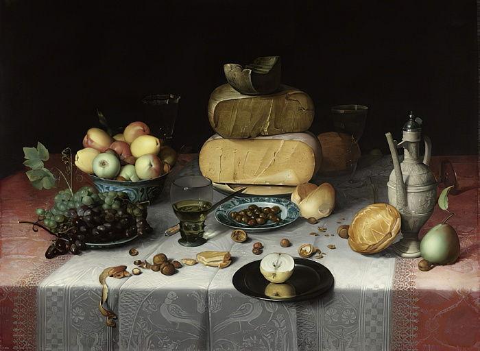 Still life with cheese | Floris van Dyck