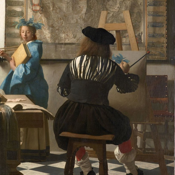 Vermeer | allegory of painting | detail