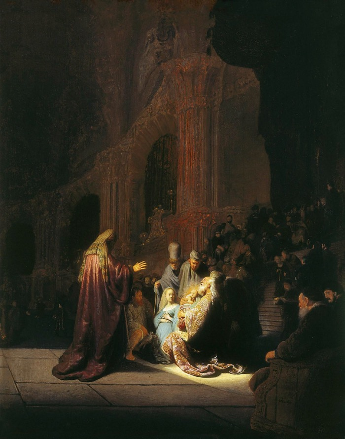 Simeon's Song of Pray | Rembrandt