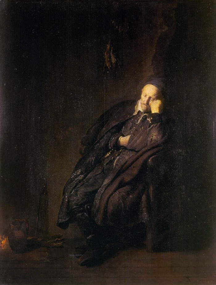 Old Man Sleeping | Rembrandt