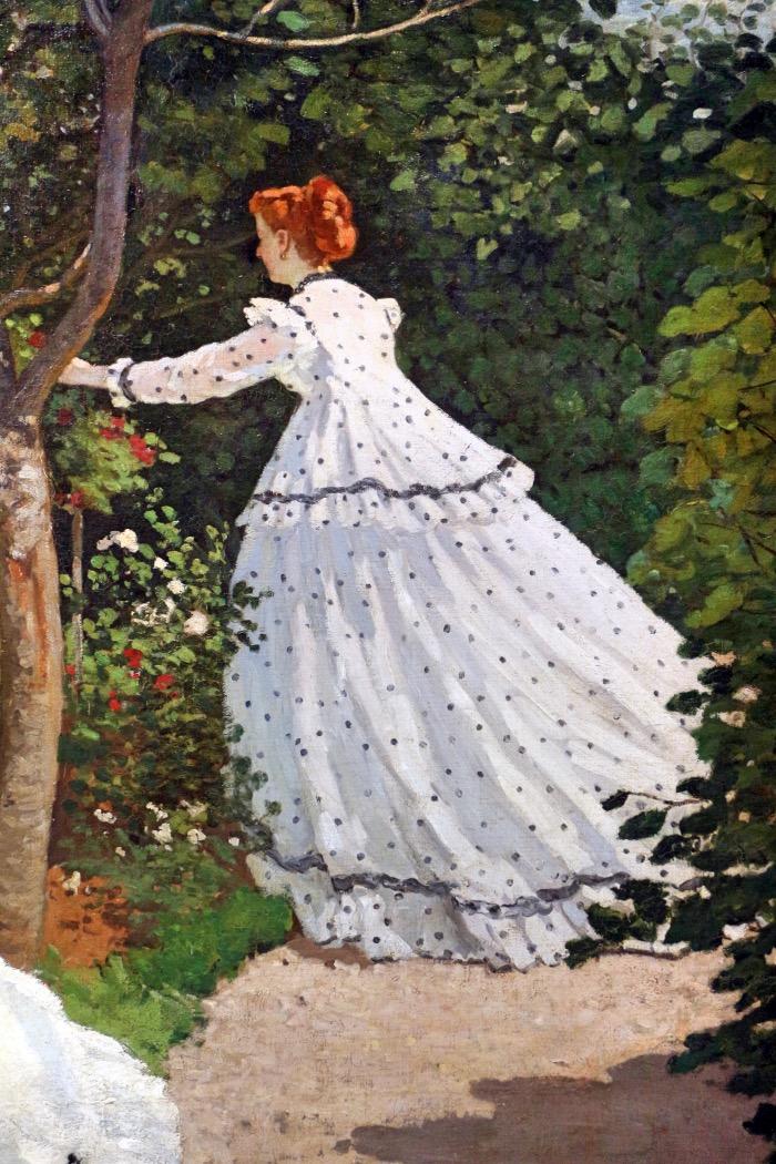 Donne in giardino | Monet | dettaglio opera