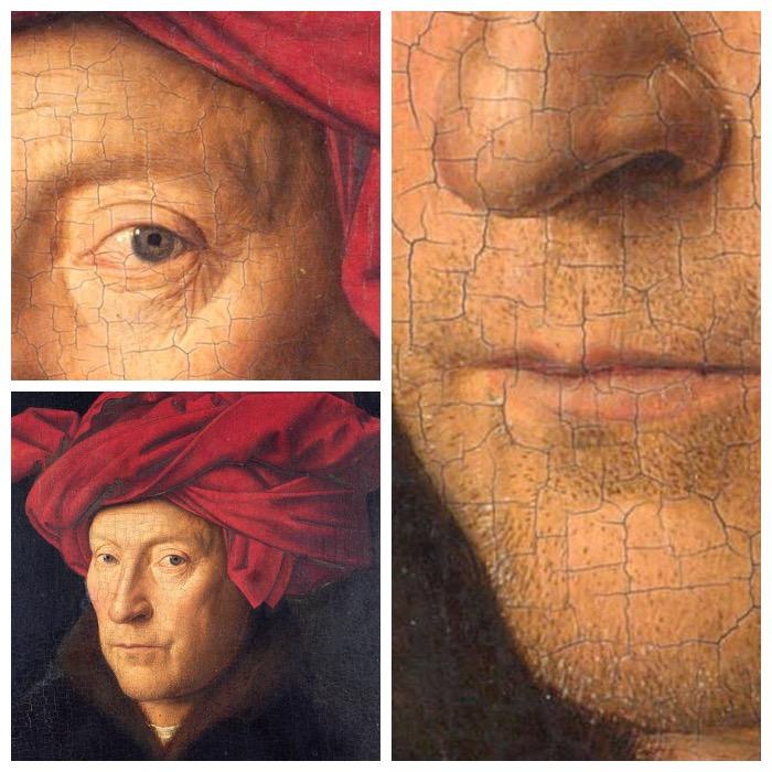 van Eyck | uomo con turbante rosso