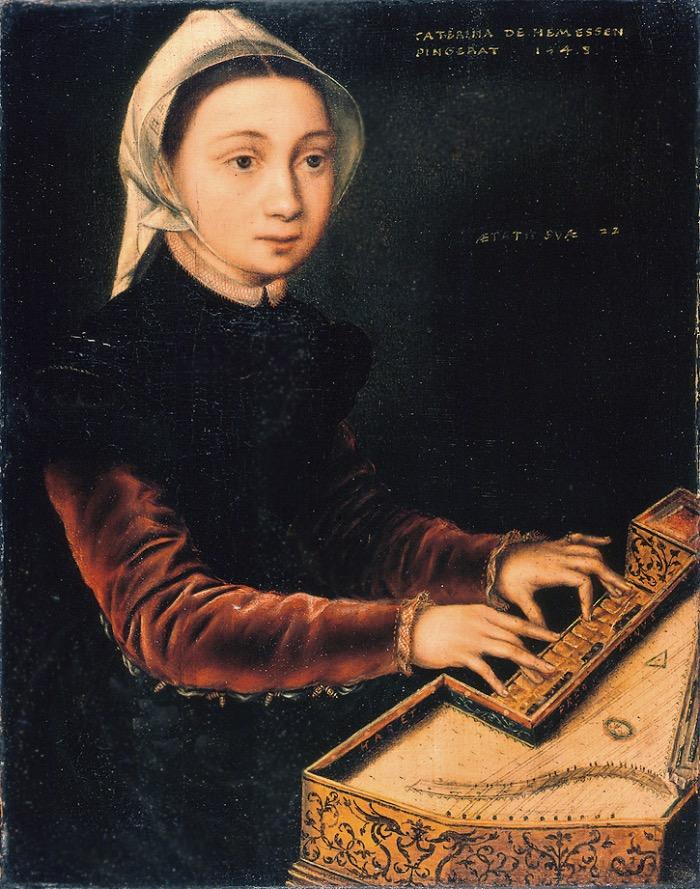Catharina van Hemessen | Girl at the Virginal