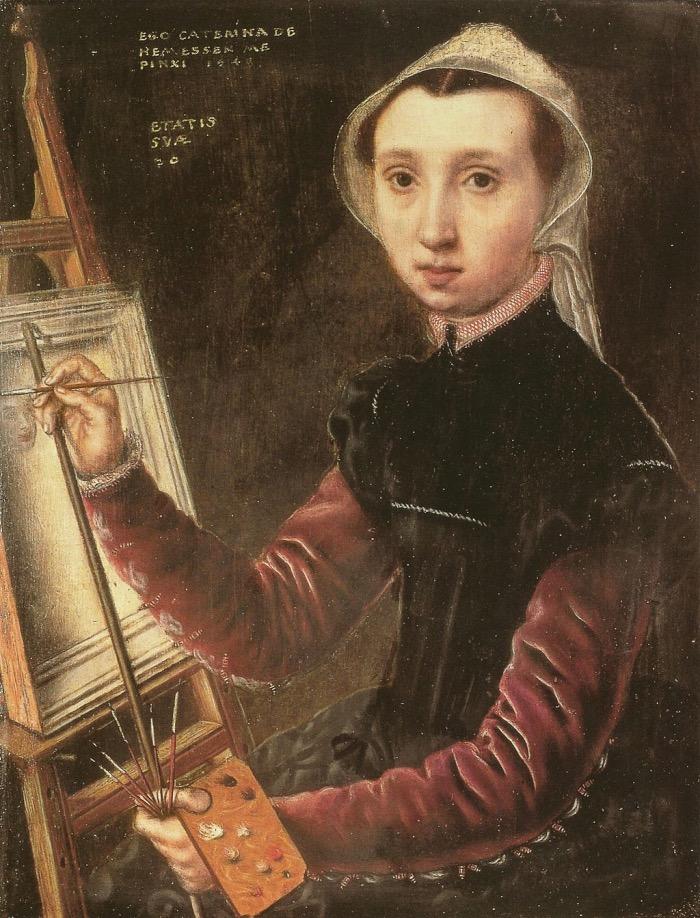 Catharina van Hemessen | self-portrait