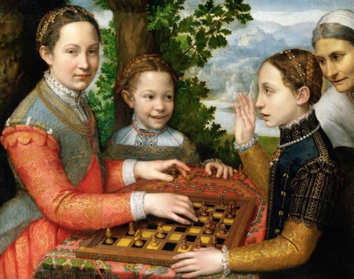 Sofonisba Anguissola | tre solerte giocano a scacchi
