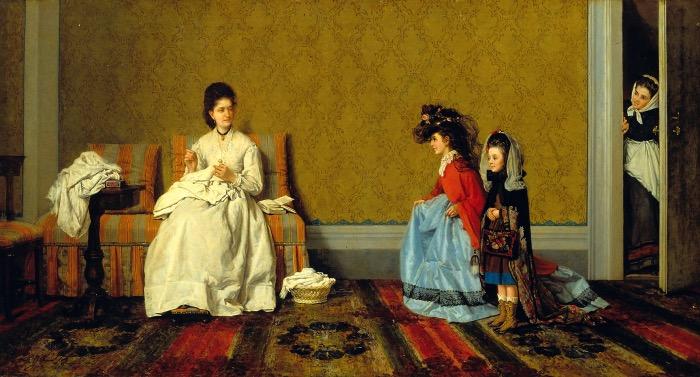 Silvestro Lega | Le bambine che fanno le signore