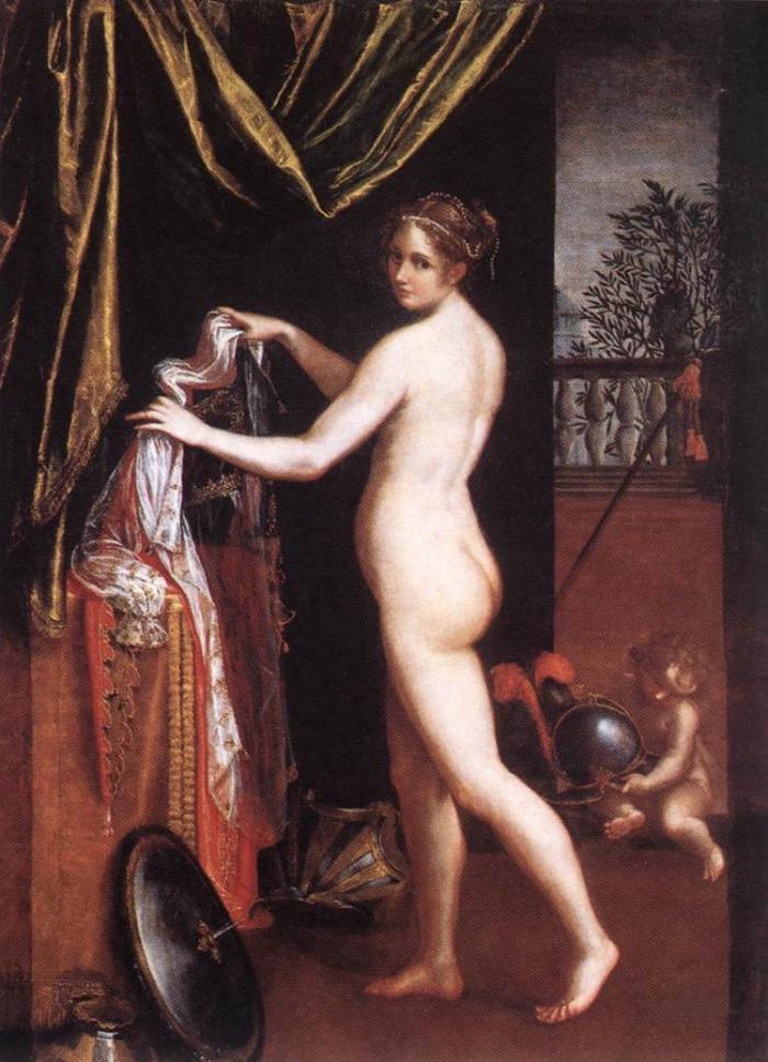 Lavinia Fontana | Minerva in atto di abbigliarsi