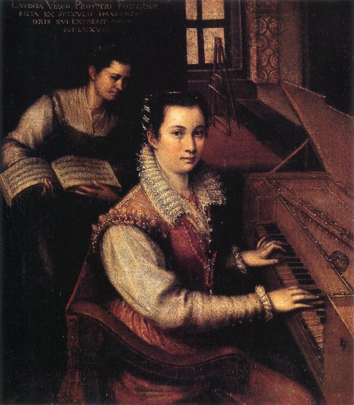 Lavinia Fontana | Autoritratto alla spinetta