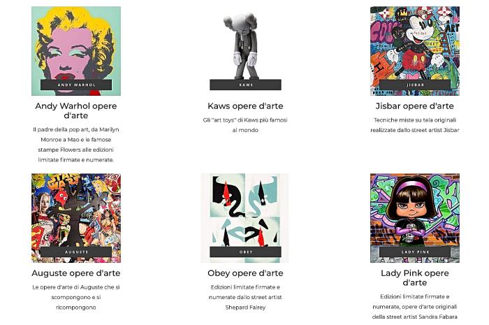 galleria d'arte online | Strip gallery