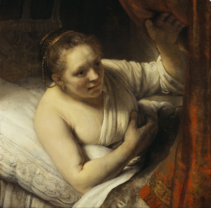 Rembrandt | A woman in Bed