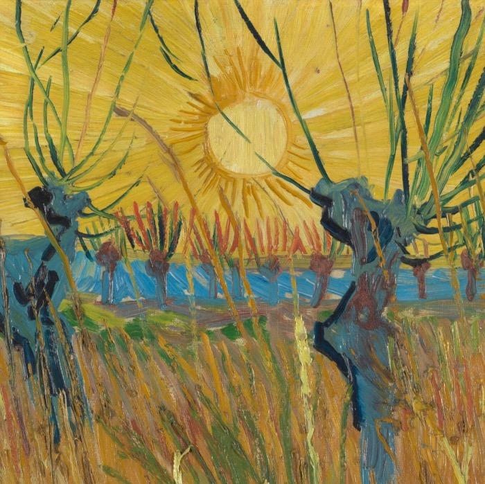 img salici al tramonto van Gogh sole dettagli
