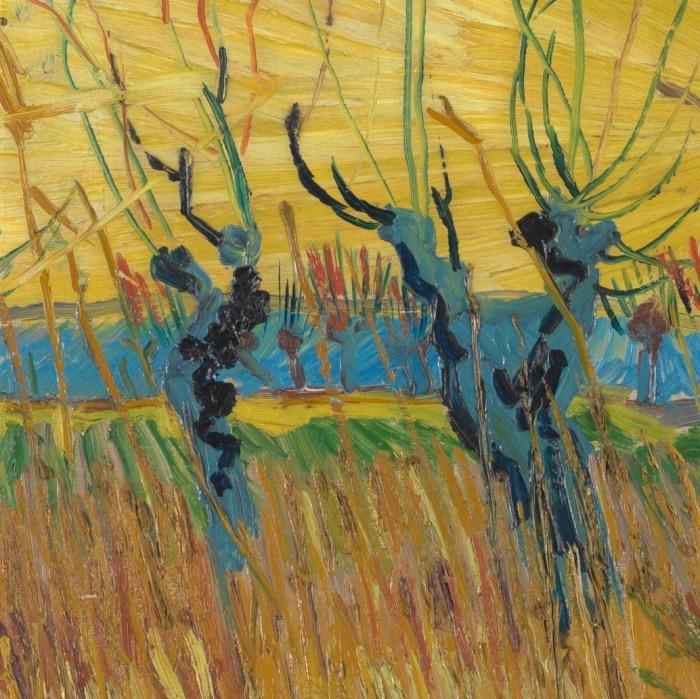 img van Gogh salici al tramonto dettaglio