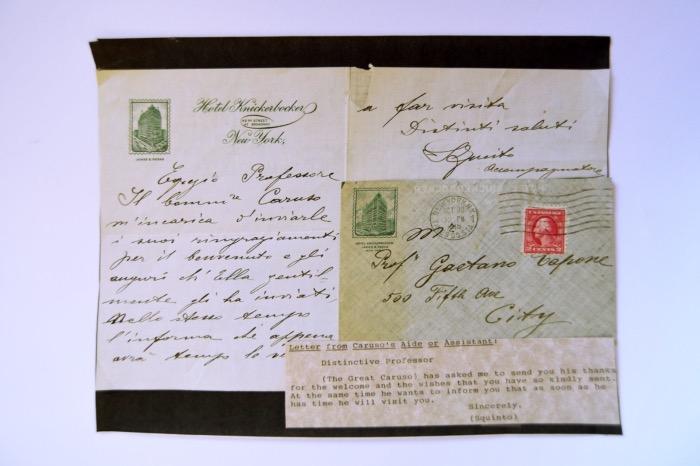 Enrico Caruso   lettere
