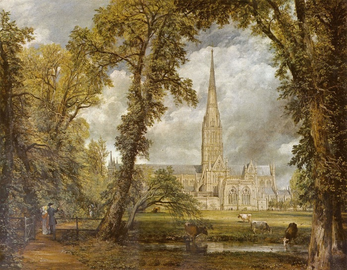 Salisbury Cathedral from the Close   Constable