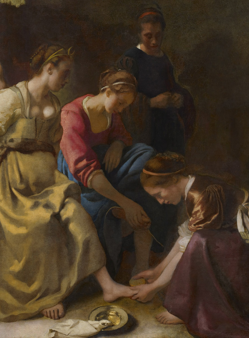 Johannes Vermeer, Diana e le sue ninfe, 1653-1654 circa (dettaglio)