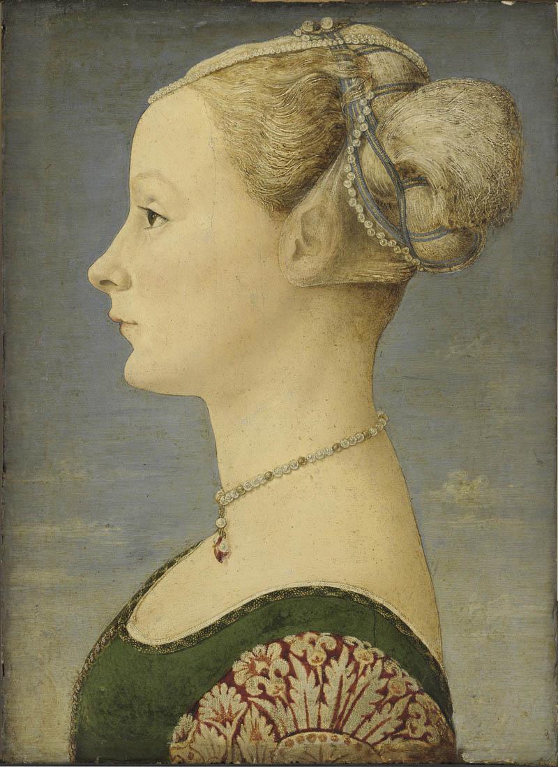 27. Piero del Pollaiolo Ritratto di giovane donna Milano Poldi Pezzoli
