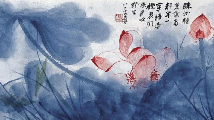 Fiori di loto, di Zhang Daqian