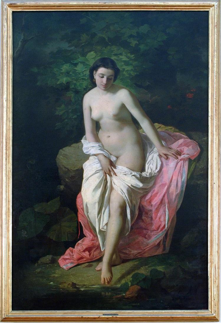 Antonio Rosaspina (Bologna, 1830 - 1871) Bagnante, 1863 Pinacoteca Nazionale di Bologna inv. 668