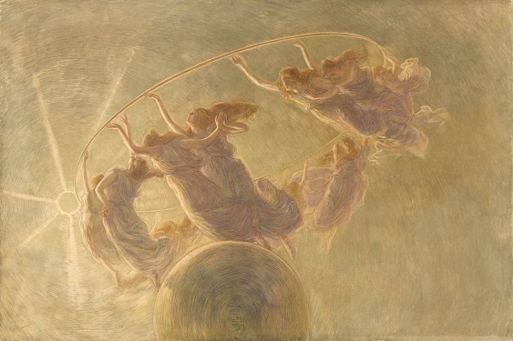 Gaetano Previati, La Danza delle Ore, 1899, olio e tempera su tela. Milano, Fondazione Cariplo, Gallerie d'Italia Piazza Scala