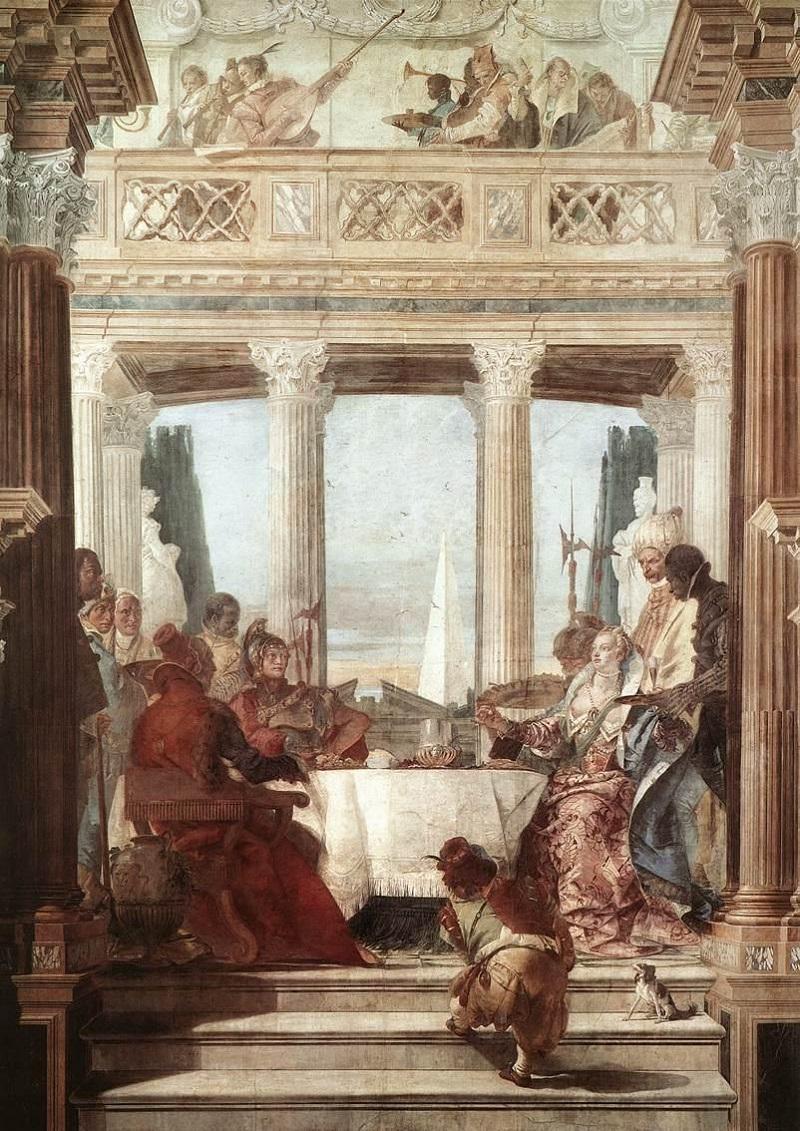 Il Banchetto di Cleopatra, (1746 - 1747 c.a.). G.B. Tiepolo, Palazzo Labia, Venezia
