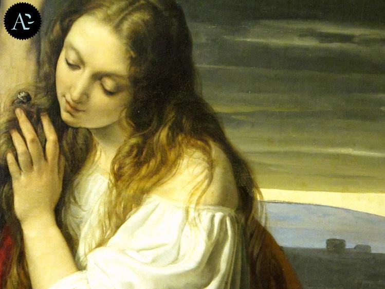 Francesco Hayez | Crocifisso con la Maddalena genuflessa e piangente | mostre Milano