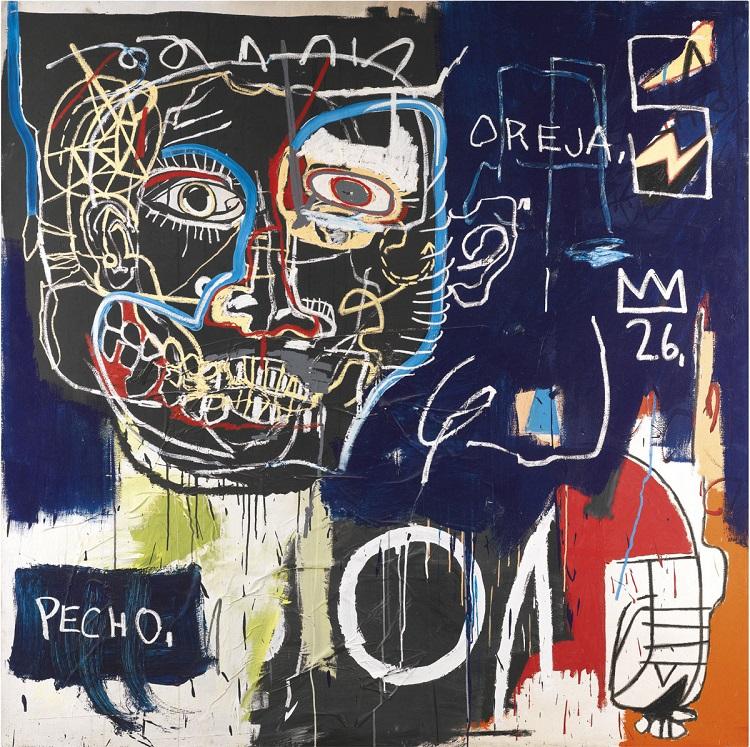 Untitled (Pecho/Oreja) by Jean-Michel Basquiat