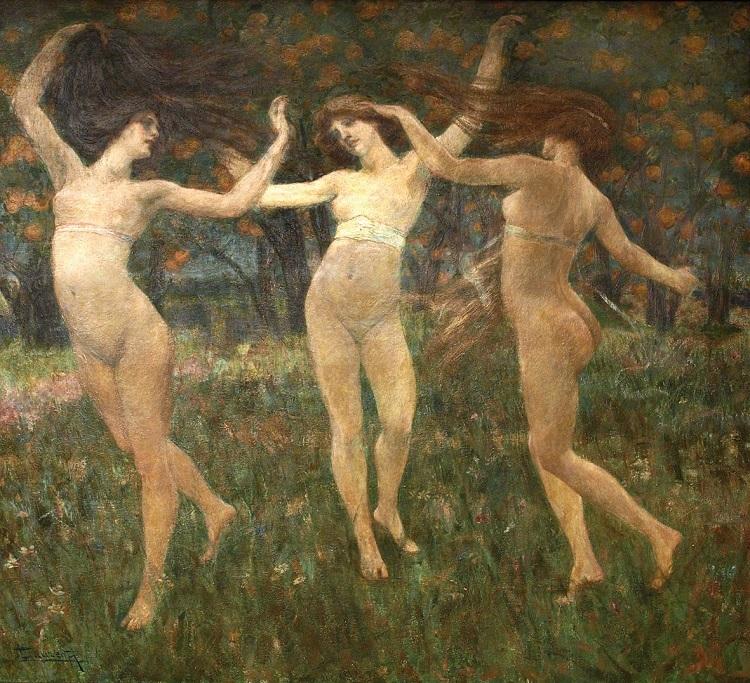 Cesare Laurenti: Visione Antica, 1901. Olio e tempera su tavola