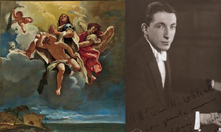 Sebastiano Ricci  (Belluno 1659 - Venezia 1734)  Apoteosi di un santo (Vittore?)   1695 circa  Francesco Molinari Pradelli al pianoforte, 1932