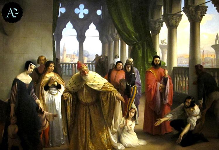 Francesco Foscari destituito | Francesco Hayez | moster Milano