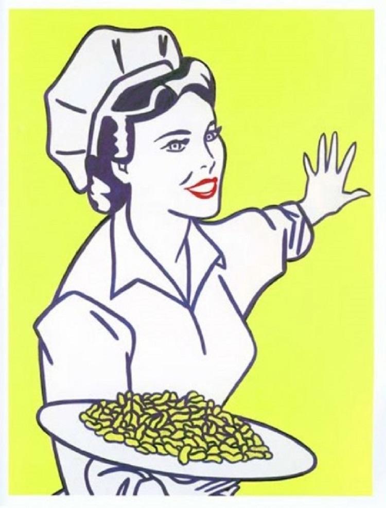 Roy Lichtenstein, Woman with peanuts