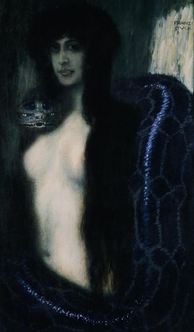 Franz von Stuck: Il peccato, 1909 ca. Olio su tela